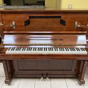 Se Vende Piano Alemán Max Neumeyer Caoba Claro de 1910 Restaurado