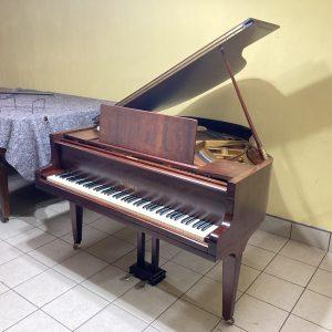 Este piano de cola Welmar fue construido por Blüthner Pianos en Leipzig, Alemania, para la Welmar Piano Company cerca de 1938. Con 160 cm de largo de cola, el piano ofrece unos graves ricos, unos medios cálidos y unos agudos nítidos y se ha mantenido en un estado impecable.